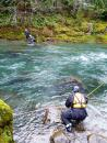 Setting up a raft lowering system during swift water training